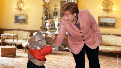 Schleckeis-Fauxpas von Kanzlerin Angel Merkel