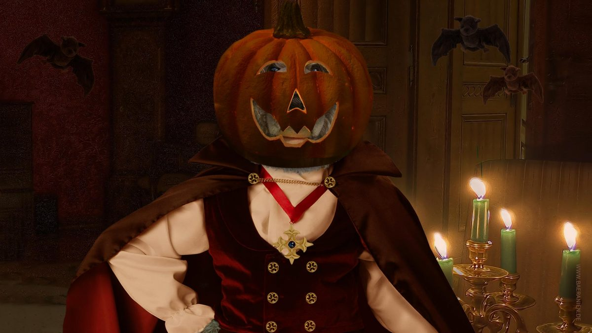 König Opa wünscht happy Halloween