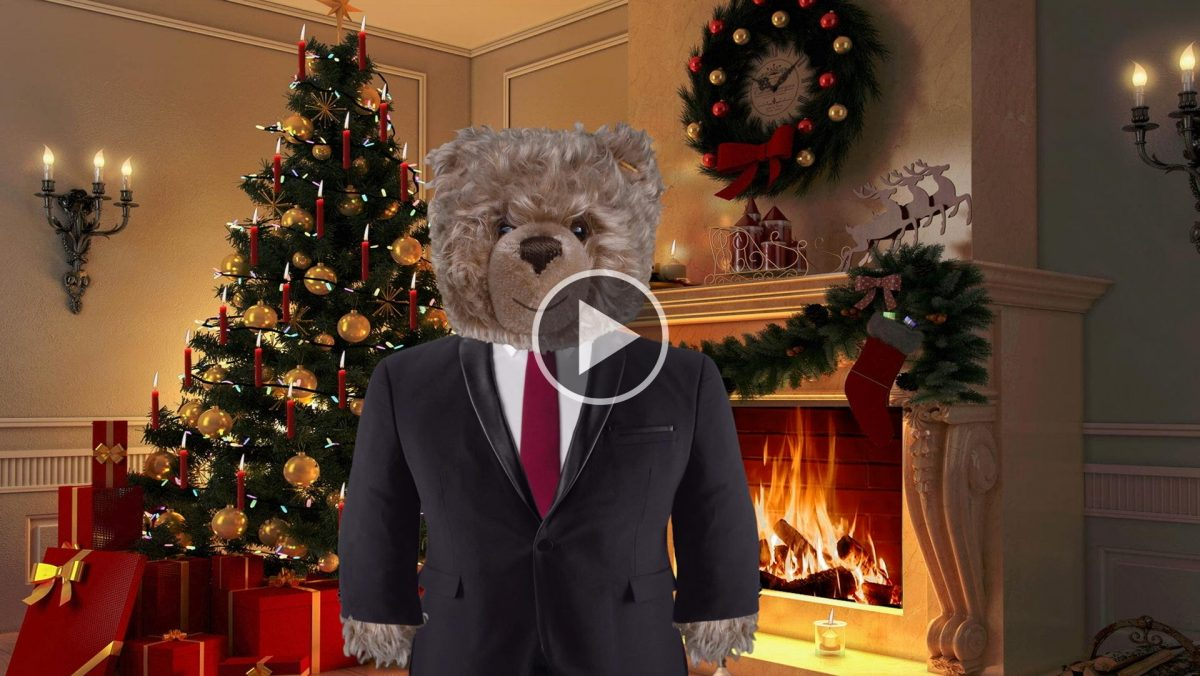 König Opa wünscht fröhliche Weihnachten