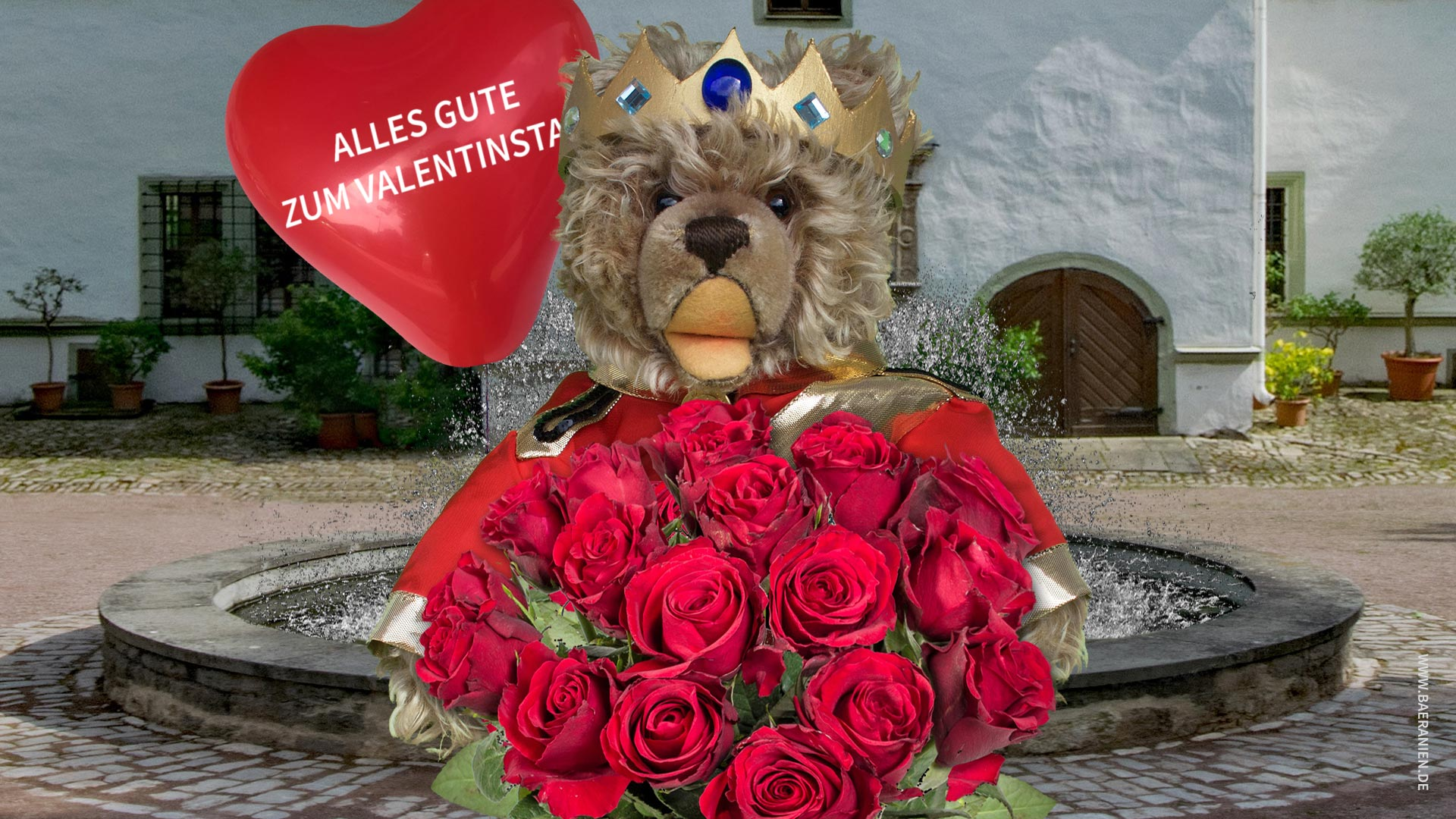 König Opa und Grüße zum Valentinstag