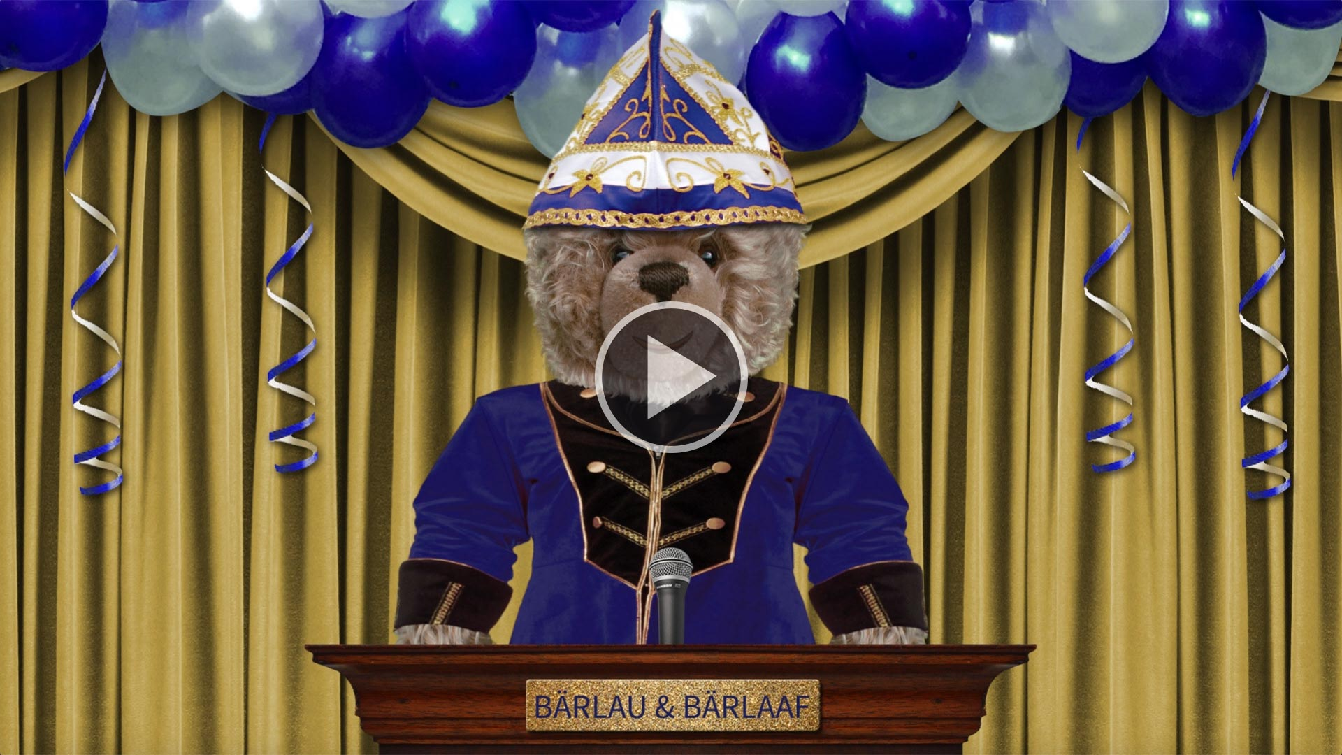 Teddybär-König Opa in der Bütt