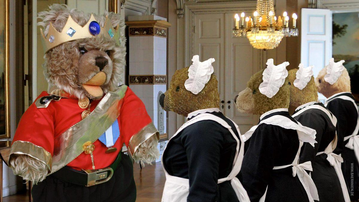 Teddybär-König Opa und der Frühjahrsputz