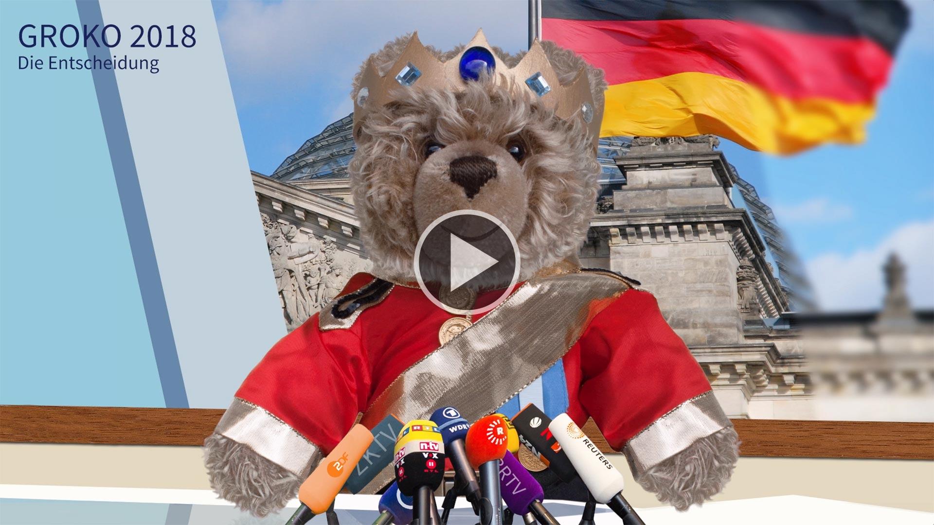Teddybär-König Opa zur Groko