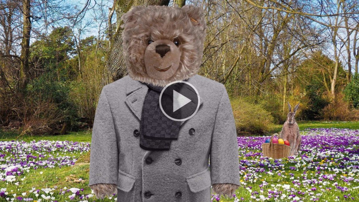 Teddybär-König Opa und der Osterhase