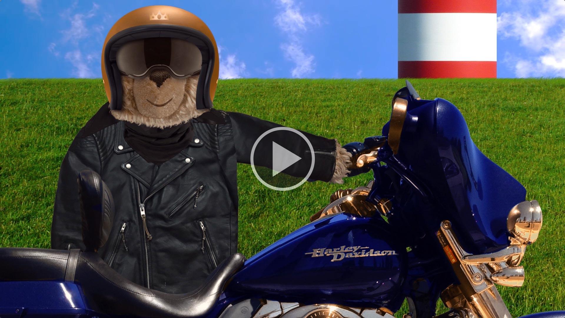 Teddybär-König Opa und die Motorradtour