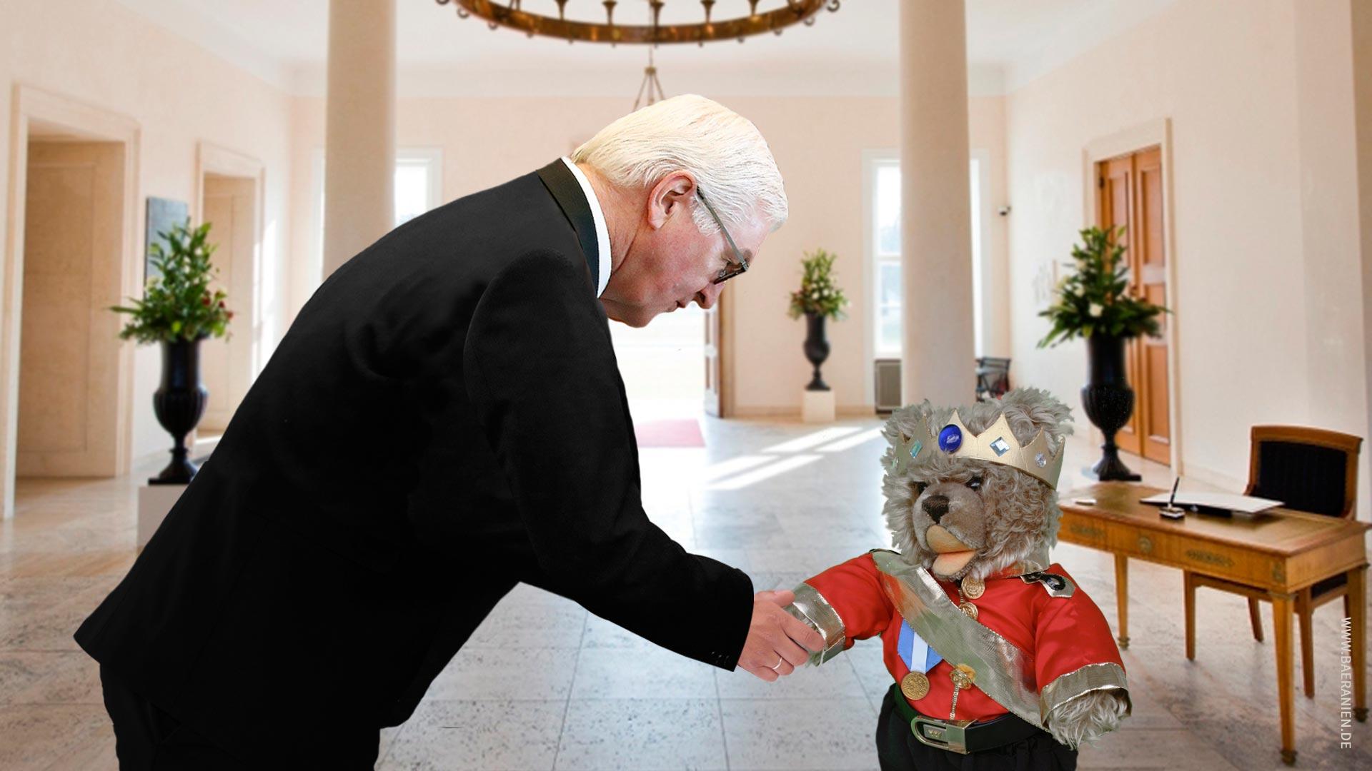Teddybär-König Opa gratuliert Deutschland