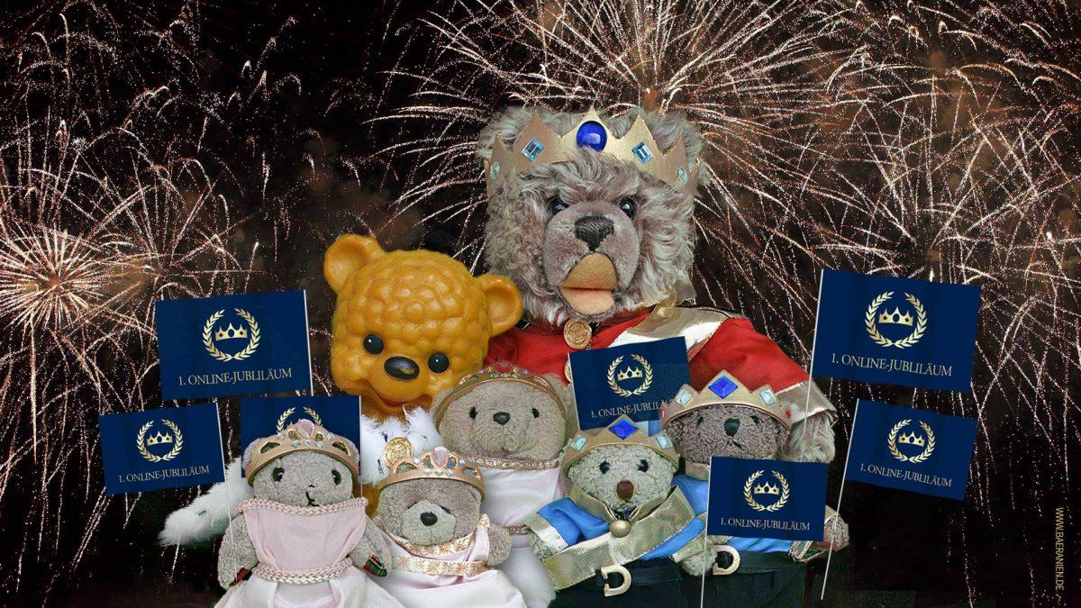 Großes Feuerwerk in Bäranien zum 1. Jubiläum