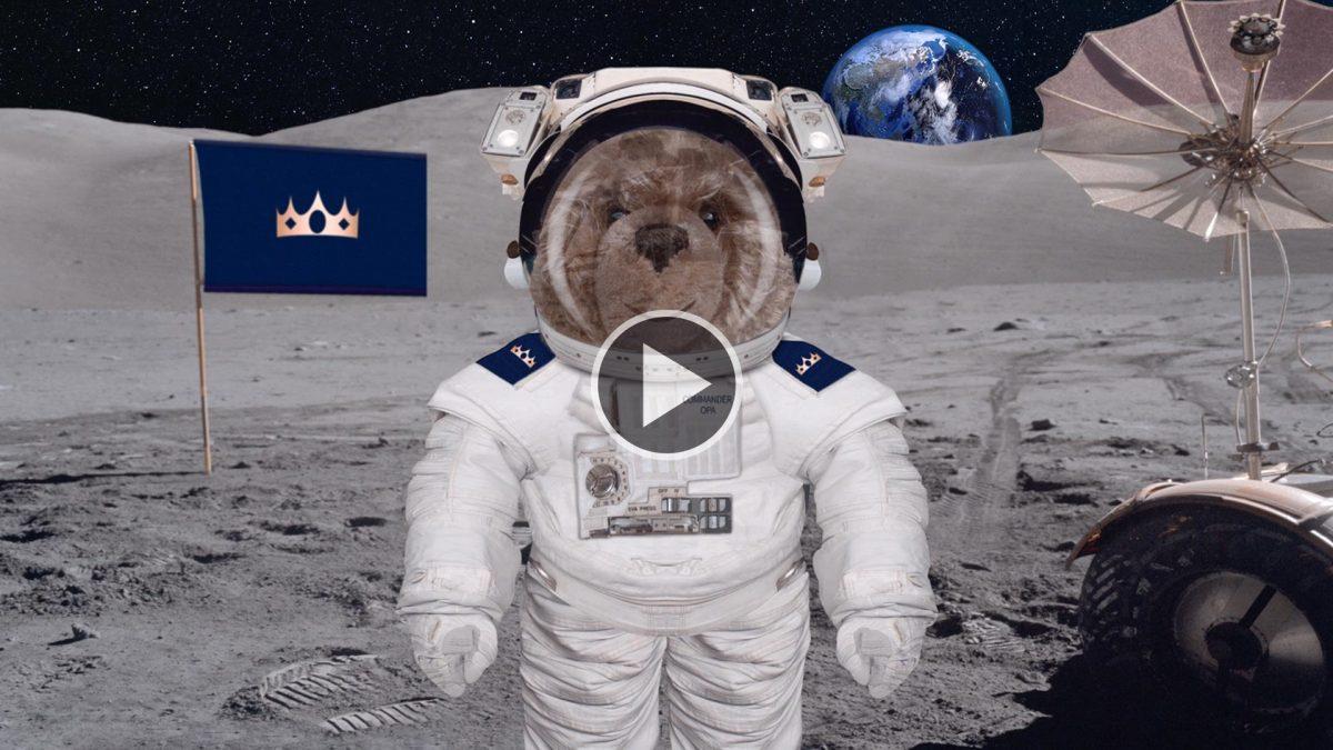 Teddy-König Opa und die Mondlandung