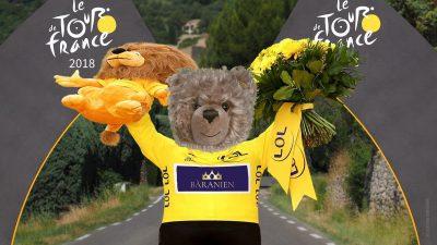 Teddy-König Opa bei der Tour de France