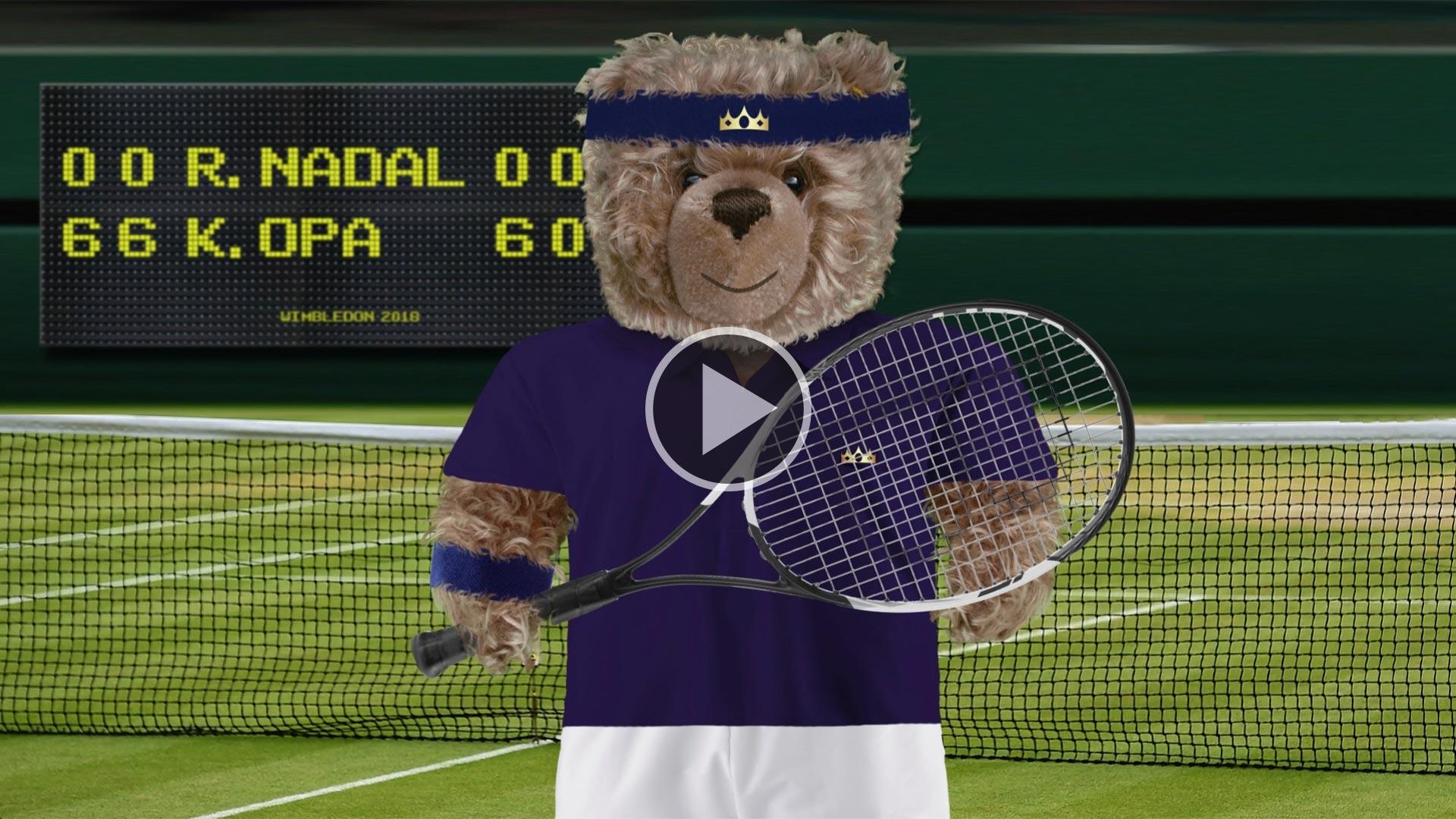 Teddy-König Opa in Wimbledon