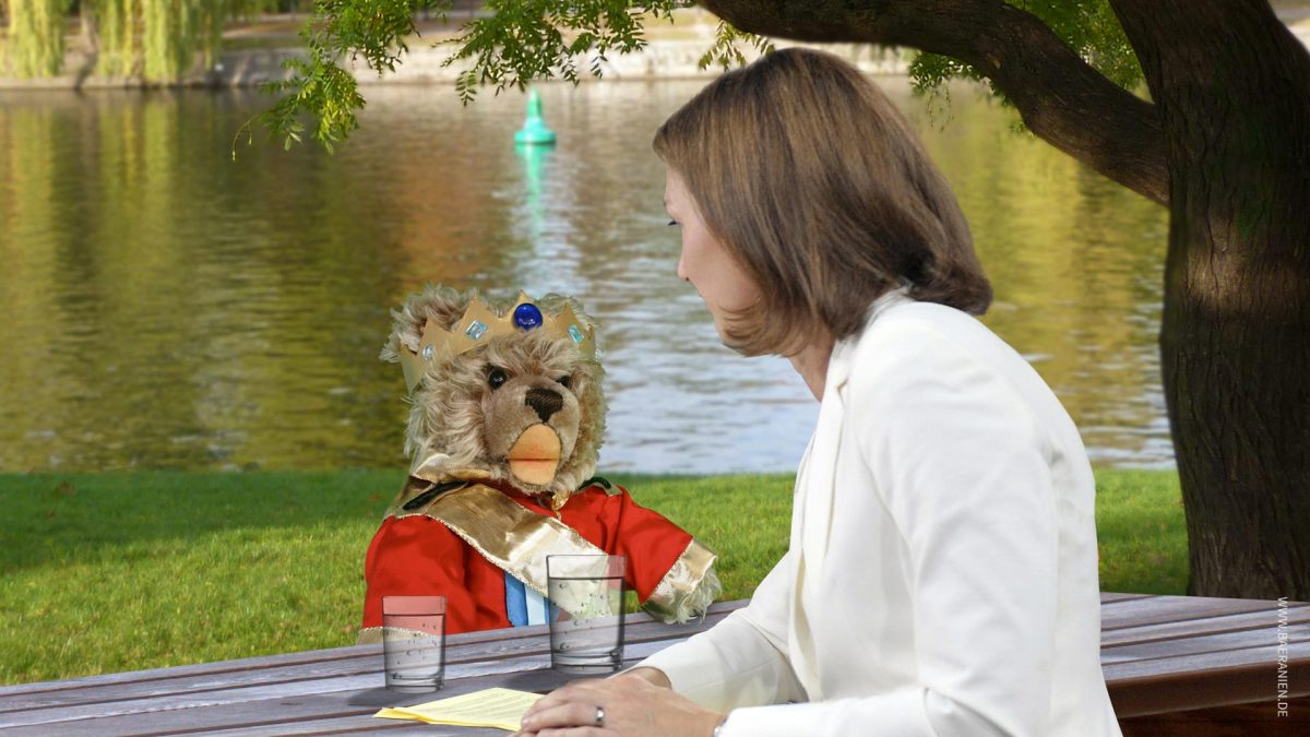 Teddy-König Opa I. im ZDF-Sommerinterview