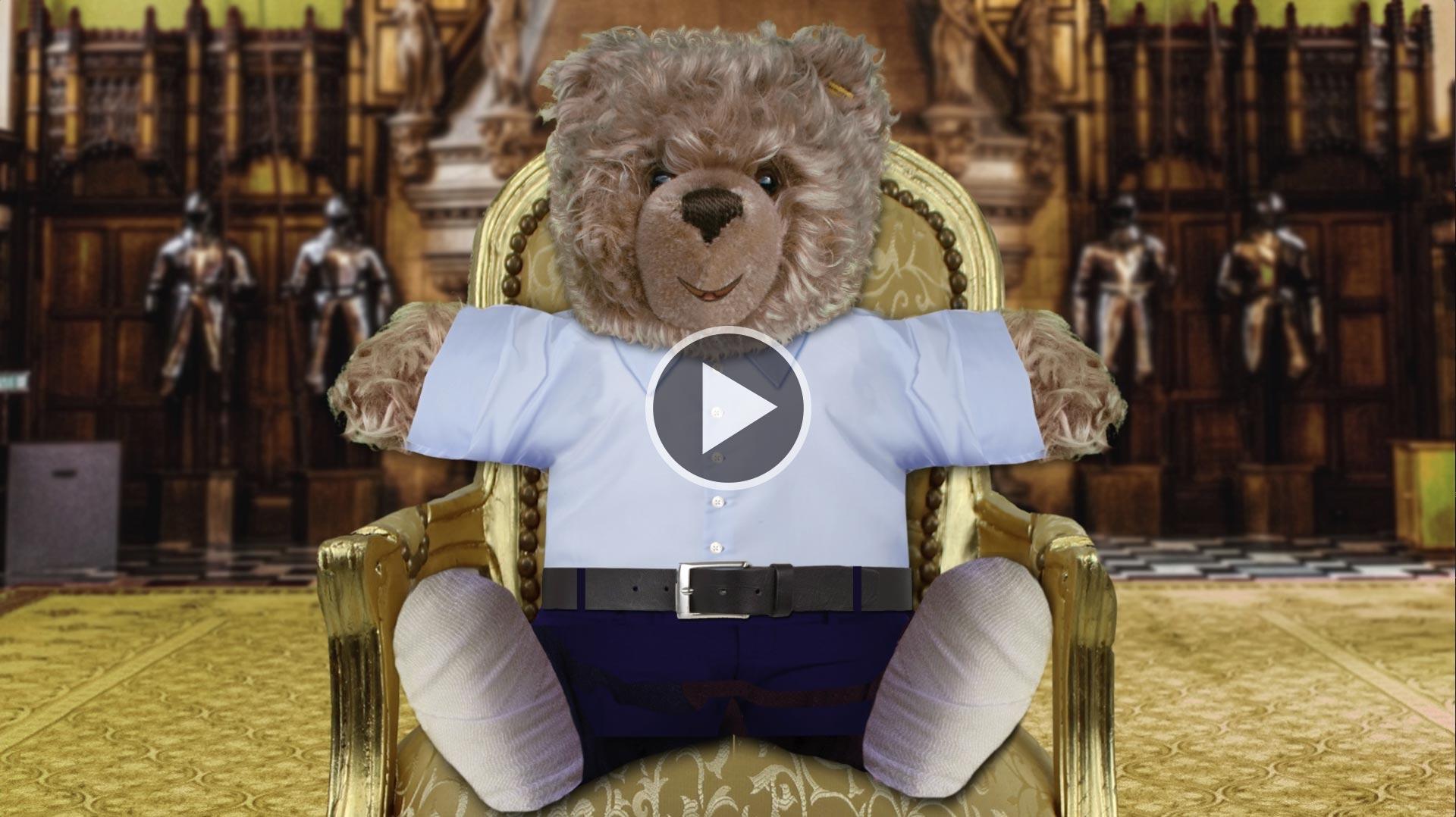 Teddy-König Opa I. und das Motivationstraining