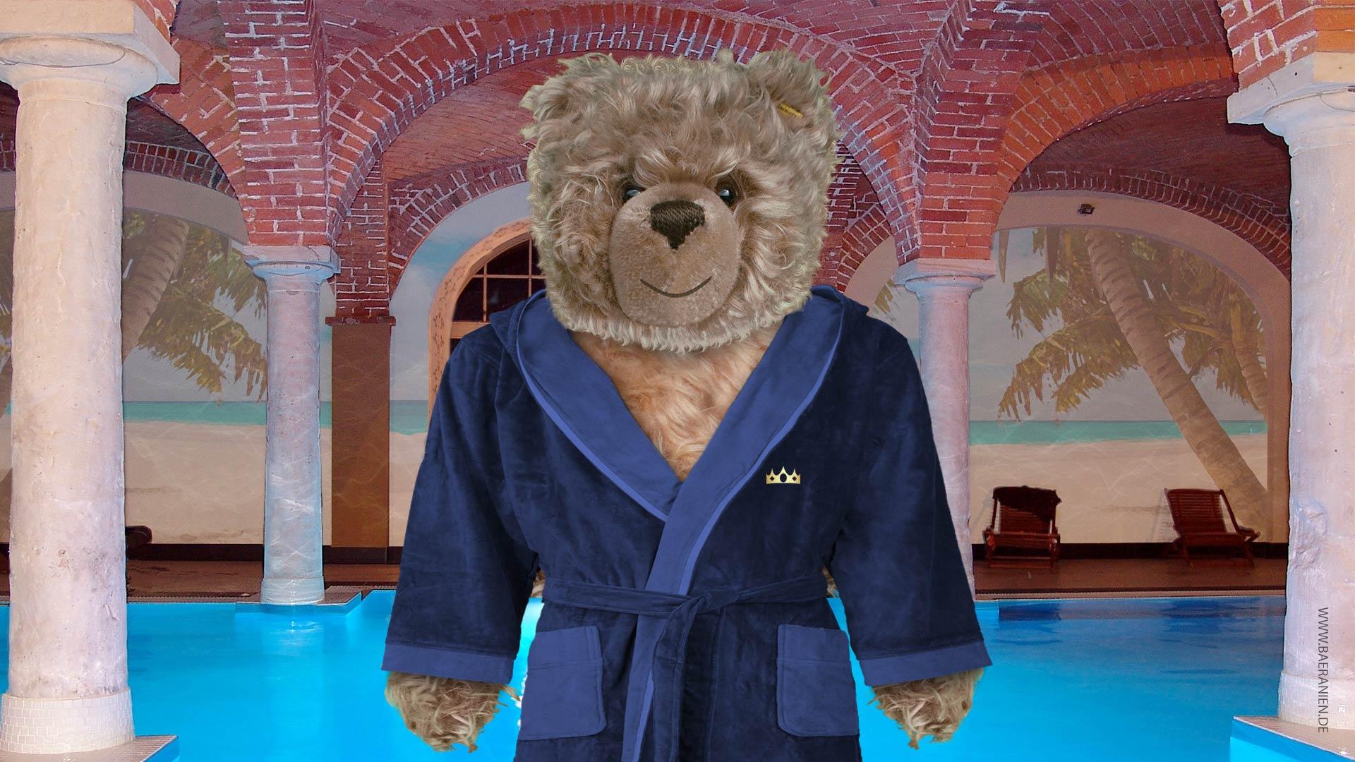 Teddy-König Opa im Wellness-Center