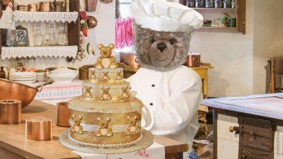 Teddy-König Opa und die Geburtstagstorte