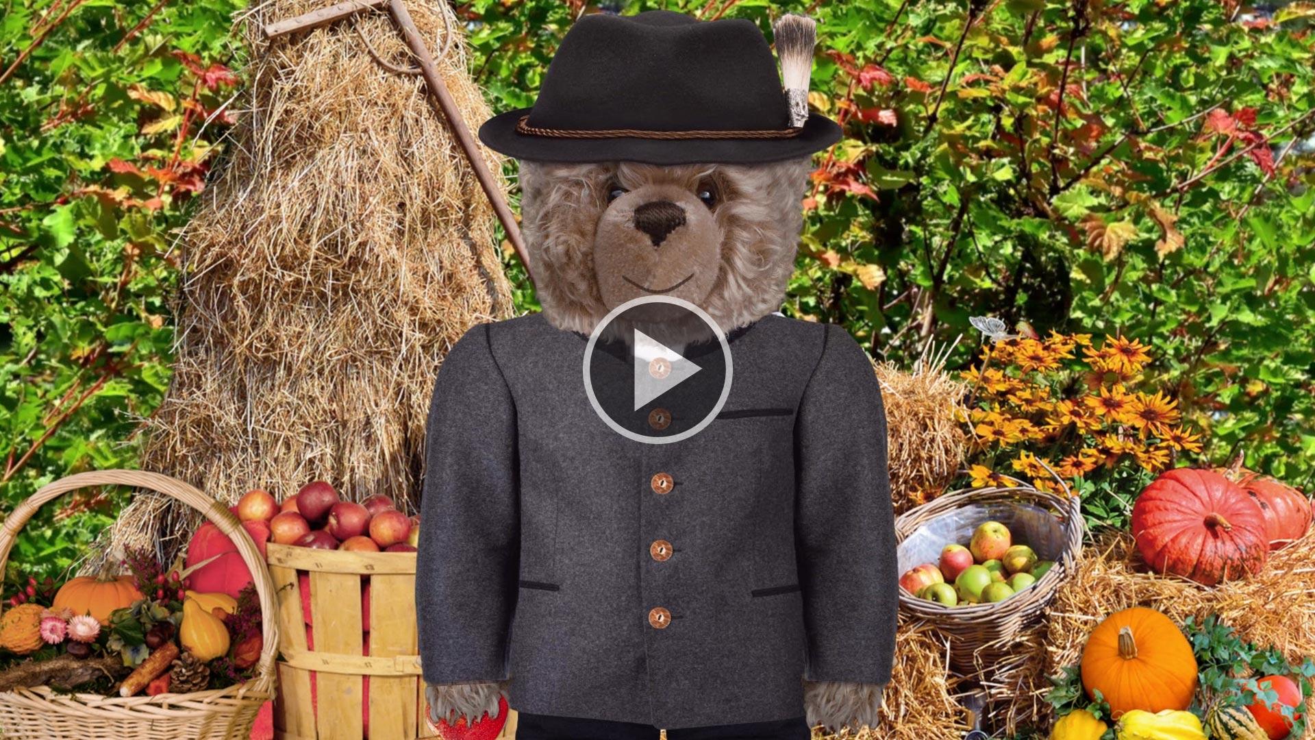 Teddy-König Opa und das Erntedankfest