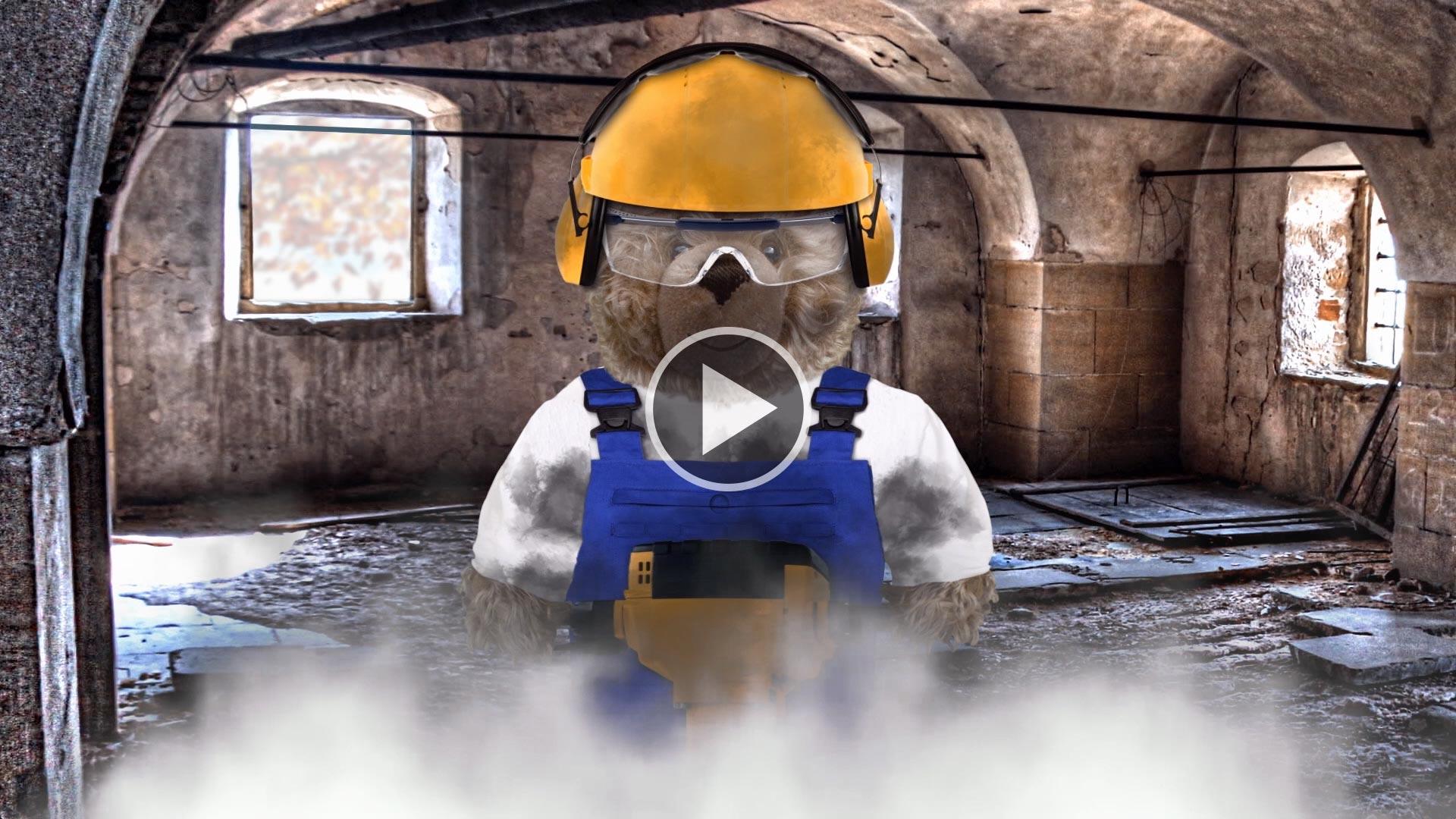 Teddy-König Opa und der Baulärm