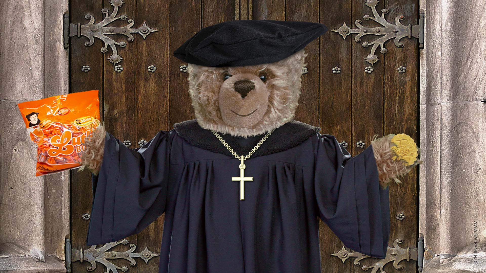 Teddy-König Opa und der Reformationstag