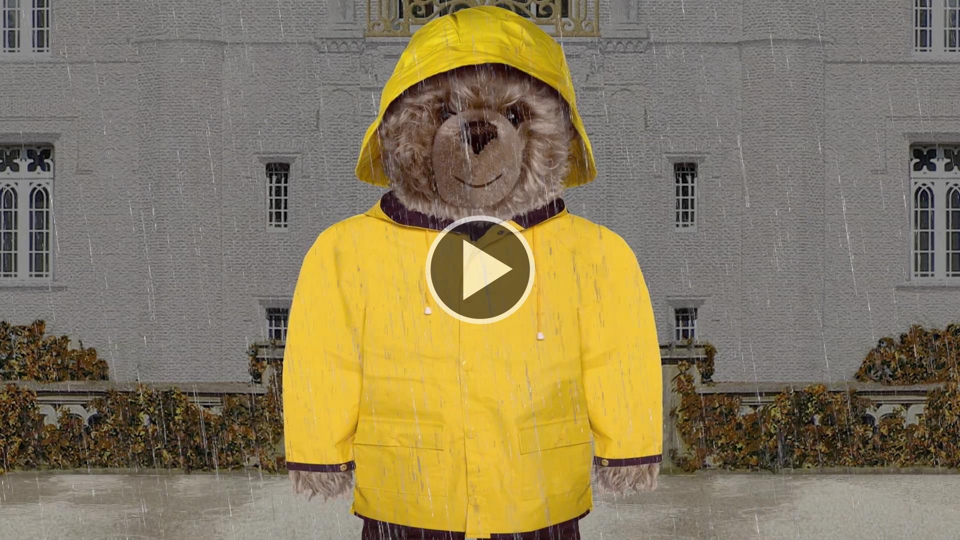 Teddy-König Opa und der Regen
