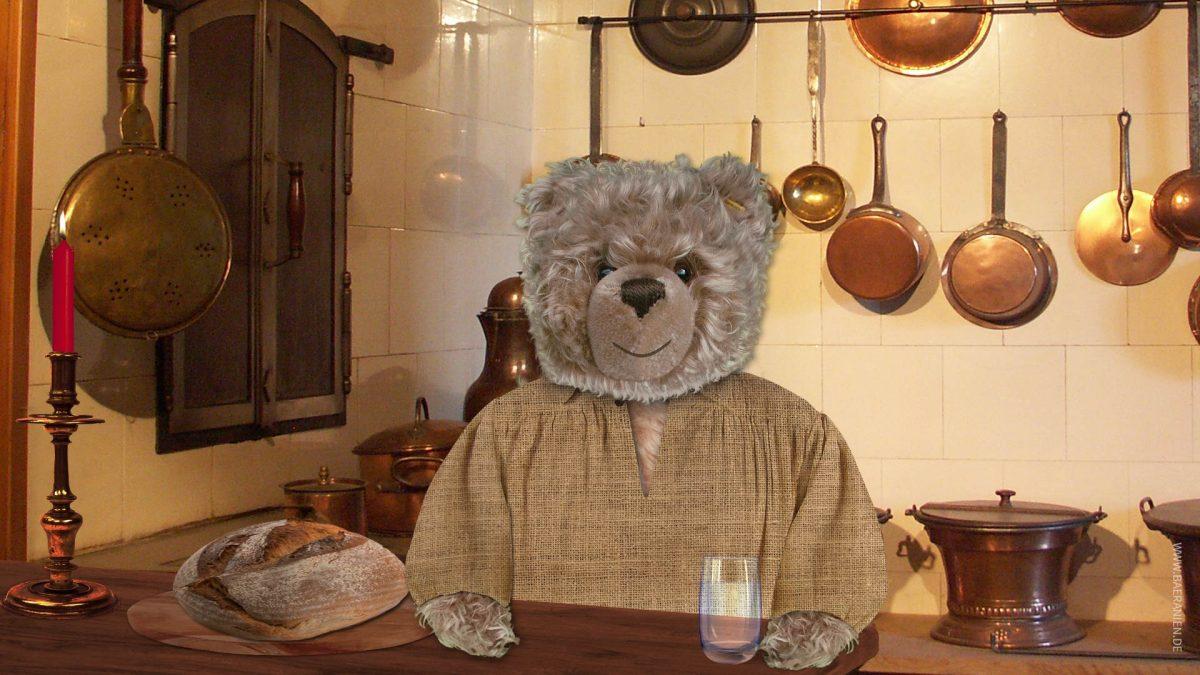 Teddy-König Opa am Buß- und Bettag