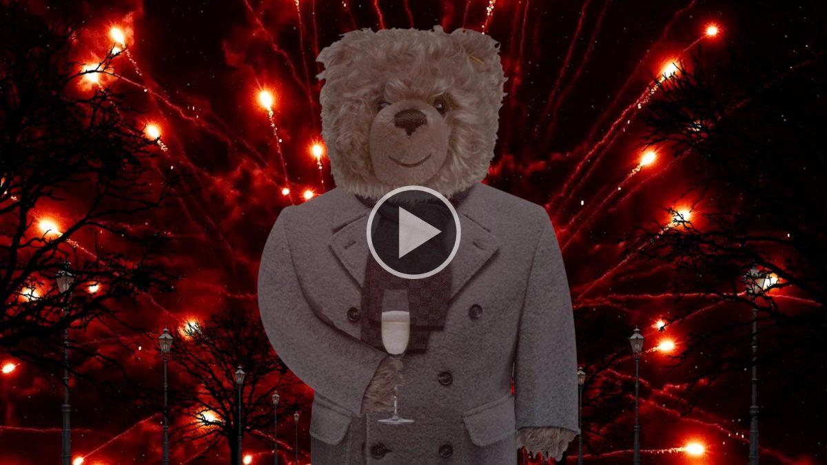 Teddy-König Opa und das Feuerwerk