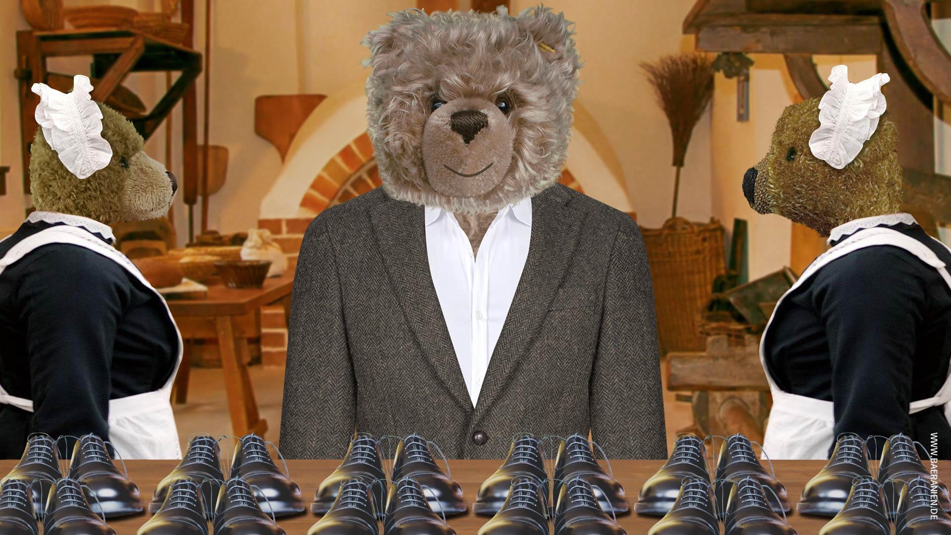 Teddy-König Opa lässt Schuhe zu Nikolaus wienern